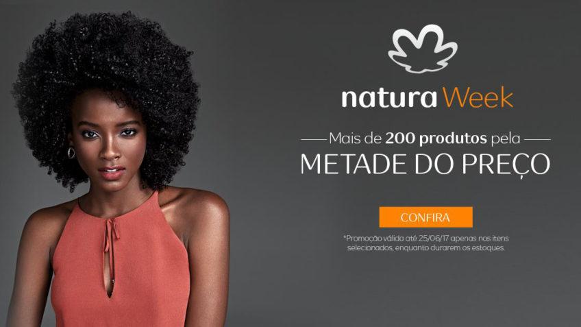 natura week metade do preço