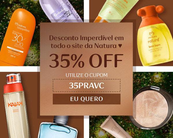 Cupom de 35% OFF Natura